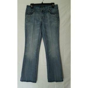 White House Black Market Bling Boot Cut Jeans EUC